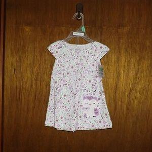 Carter's Child of Mine White & Purple 2 Pc Dress